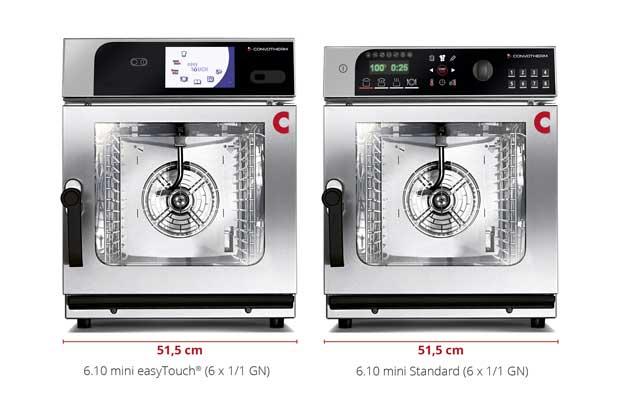 Las dos versiones del nuevo horno Convotherm mini: easyTouch y easyDial