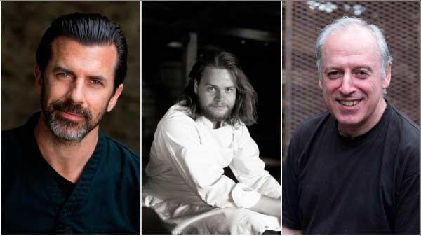 Los chefs de los tres mejores restaurantes europeos según la lista OAD 2018: Andreas Caminada, Magnus Nilsson yVíctor Arguinzoniz