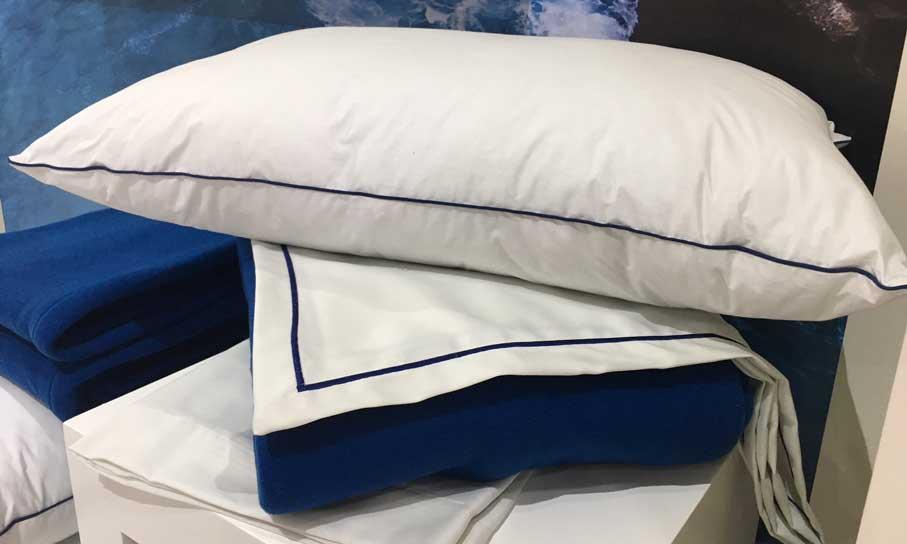Almohadas, sábanas y mantas de la colección Ocean de Vayoil Textil