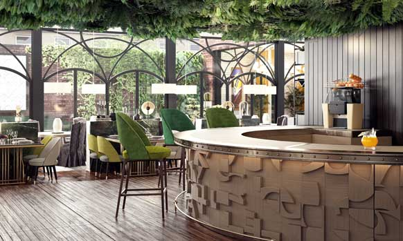 exprimidor Z06 de Zummo Nature en el restaurante Amazónico, en Madrid