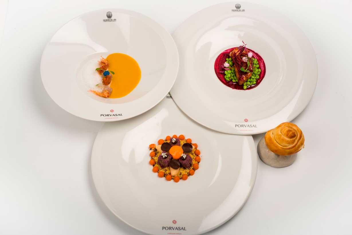 Los tres platos realizados por Álvaro Salazar en la final del Concurso Cocinero del año 2018