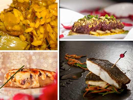 Cuatro platos de César Anca en Xanverí