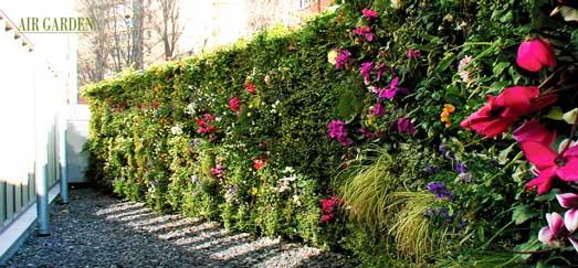 Jardín vertical de Air Garden en el hotel Araba