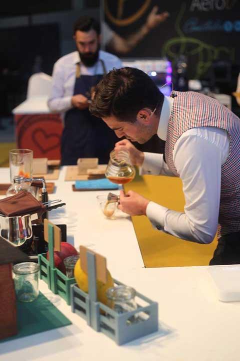 Marcos González es el mejor barista de España, como lo demostró en la gran final del XII Campeonato Nacional de Barista Fórum Café