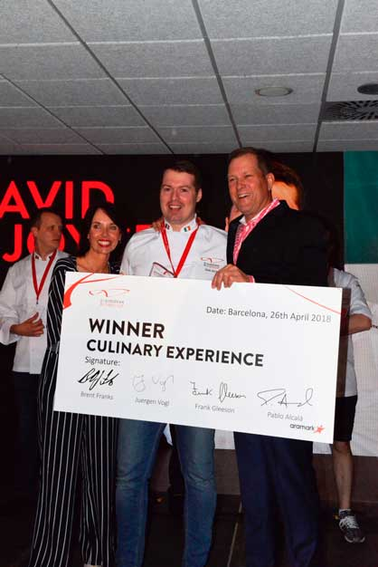 David Joyce se corona como Mejor chef europeo de Aramark