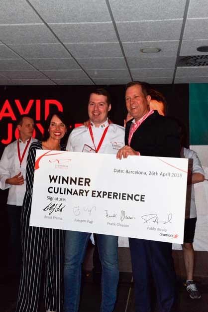 David Joyce se corona como Mejor chef europeo de Aramark