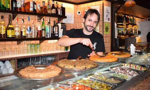 Tortillas en la barra de Can Ros