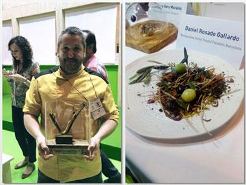 Daniel Rosado, del restaurante Víctor Trochi, y su plato ganador