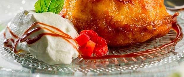 Torrija caramelizada sin gluten, una receta que propone Unilever Fod Solutions a los profesionales hosteleros