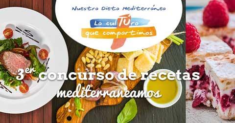 Cartel del 3º Concurso de Recetas Mediterraneamos