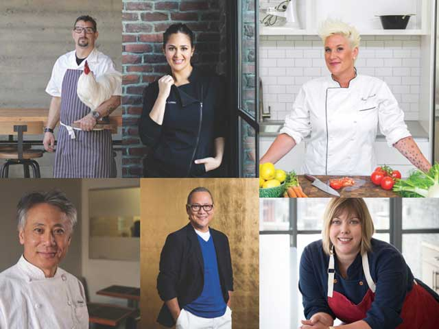 Chefs participantes en la World Culinary Showcase de la feria NRA 2018