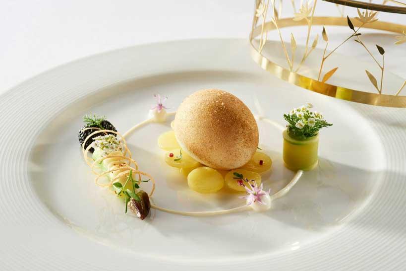 El plato individual realizado por Noruega, el equipo ganador. Foto: Julien Bouvier, Bocuse d'Or