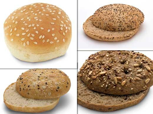 Diferentes opciones de panes para hamburguesas de Lantmannen