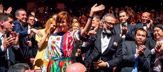 Massimo Bottura y su esposa, Lara Gilmore, en Bilbao