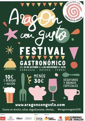 Cartel festival Aragón con Gusto 2018 - ProfesionalHoreca
