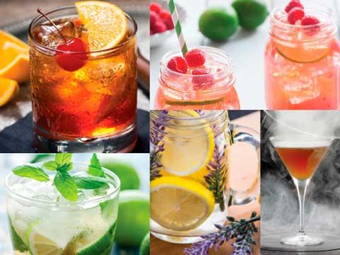 Diferentes cócteles elaborados con tés Lipton