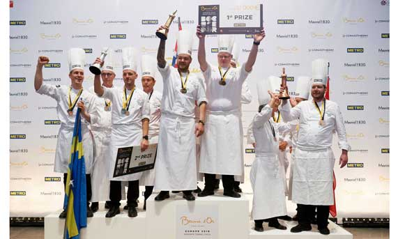 Podium nórdico en la final europea del concurso Bocuse d'Or