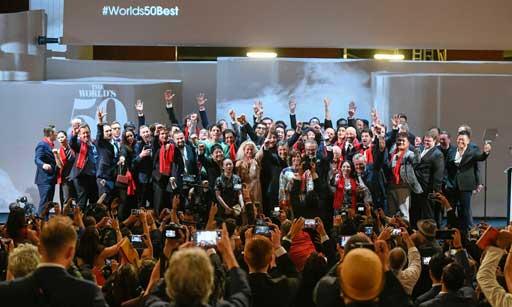 Foto de  familia de los ganadores de la gala World's 50 Best de este año