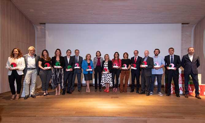 Los premiados en los IV premios de Marcas de Restauración