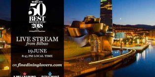 Bilbao acogerá la gala de entrega de los premios The World's 50 Best Restaurants