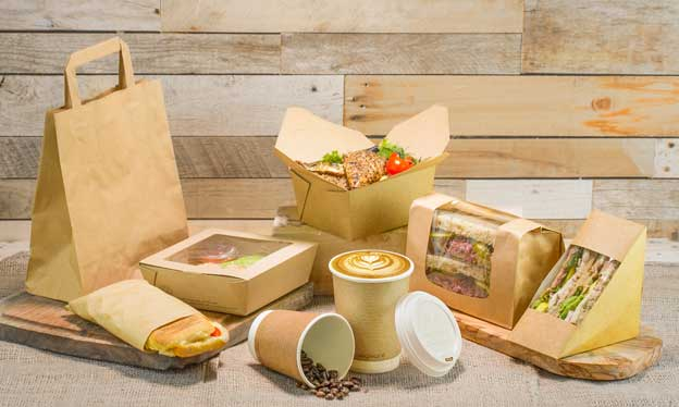 Envases para take away en papel kraft, de Klimer