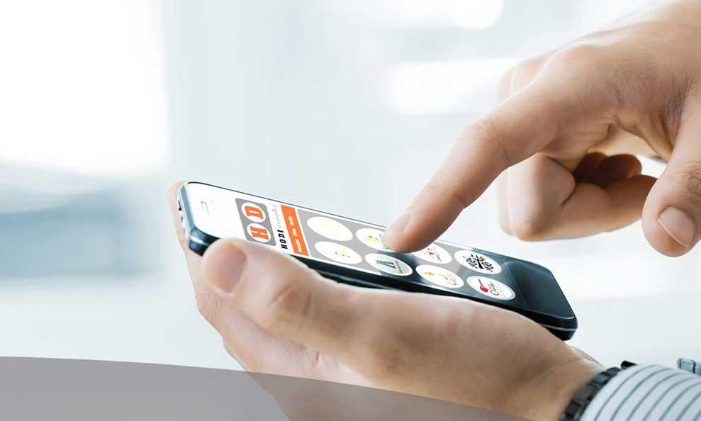 Manejando la app Hodi desde el móvil