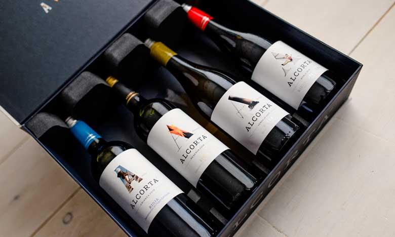Los cuatro vinos Alcorta para hostelería lucen una imagen elegante y actual