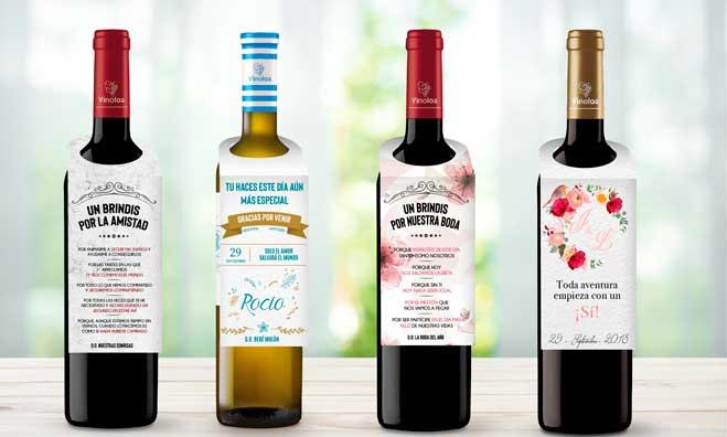 Botellas de vino personalizadas, de Vinoloa