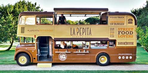 El food truck vintage de La Pepita Burger Bar