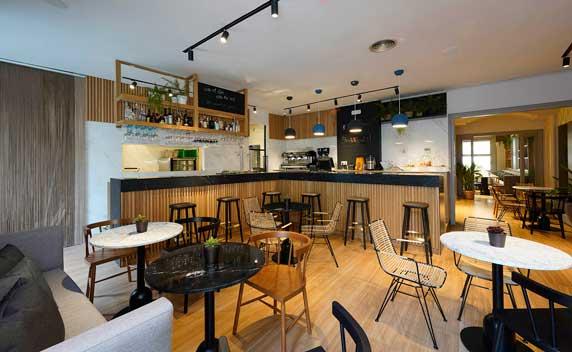 La cafetería del restaurante Viu, diseño de Elia felices