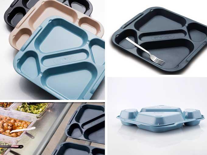 La nueva bandeja de cinco compartimentos de Araven - Profesional Horeca