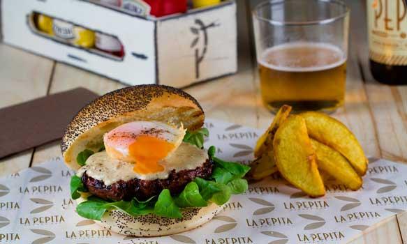 Hambuguesa gourmet de La Pepita Burger Bar