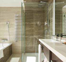 Ducha eco de Hansgrohe en los baños del hotel VP Plaza España