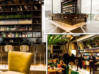 El Ginkgo Sky Bar, ubicado en la planta 12 y con grandes vistas de Madrid