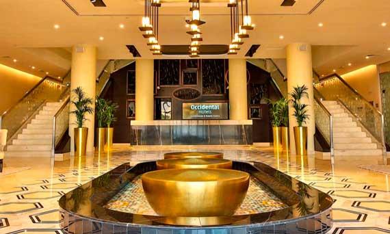 El lobby del nuevo hotel Occidental IMPZ Dubai