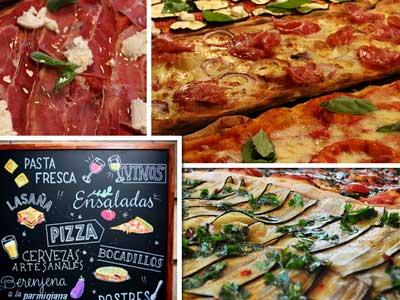 La Pala ofrece pizzas al corte y más platos italianos caseros, elaborados a diario