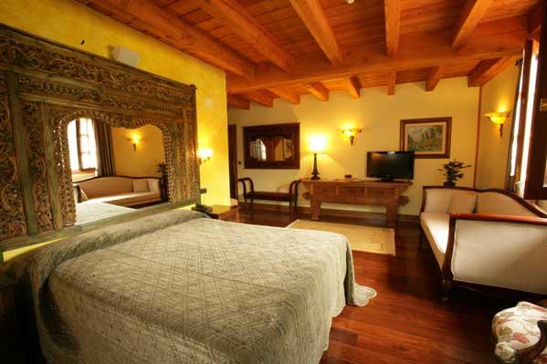 Una de las habitaciones del Hotel Spa Etxegana