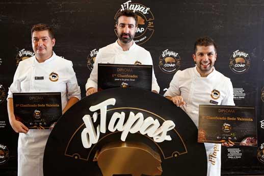 Rodolfo Fernández, chef del restaurante La Cava de Royán, de Alcantarilla (Murcia), ganó la semifinal valenciana del concurso d Tapas Covap