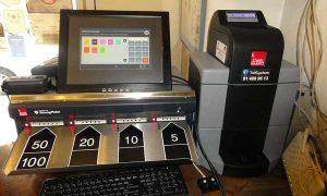 La caja registradora inteligente Cashguard en La Caleta Gaditana, en Madrid