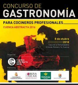 Cartel del concurso de cocina Cuenca Abstracta - profesional horeca