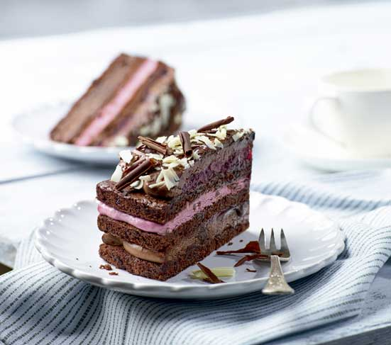 Tarta de chocolate y cereza, Casual Cake de Erlenbacher - profesional horeca