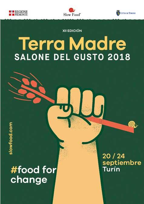 Cartel de Terra Madre Salone del Gusto 2018 - ProfesionalHoreca