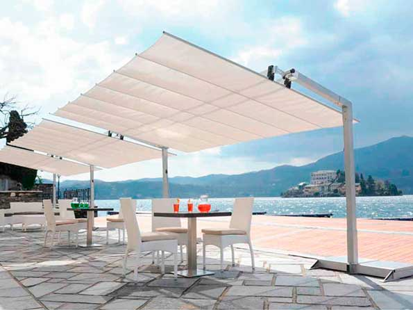 Parasol Flexy en terraza - Profesional Horeca