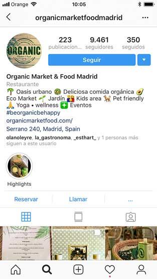 Perfil de un restaurante en Instagram - Profesionalhoreca