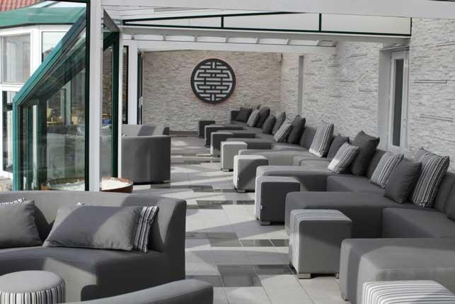 Jardinium mobiliario exterior con telas n uticas de ltima generaci n profesional horeca - Muebles exterior tela nautica ...