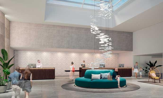 lobby del futuro Palladium Hotel Costa del Sol - profesionalhoreca