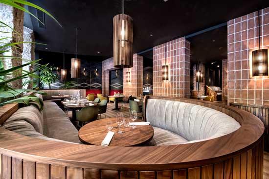 Restaurante La Cabra - interiorismo - estudio Mecanismo - ProfesionalHoreca - sofá