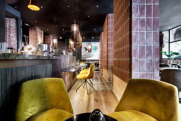 Restaurante La Cabra - interiorismo - estudio Mecanismo - ProfesionalHoreca - barra