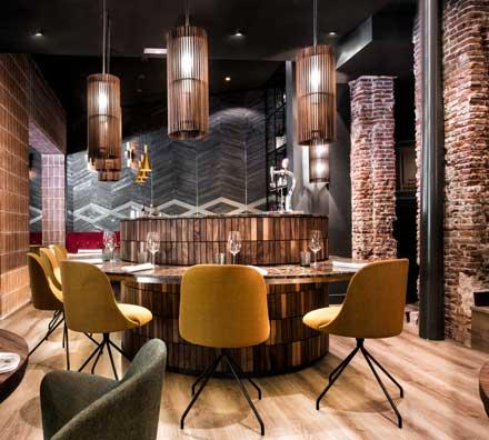 Restaurante La Cabra - interiorismo - estudio Mecanismo - ProfesionalHoreca - lámparas