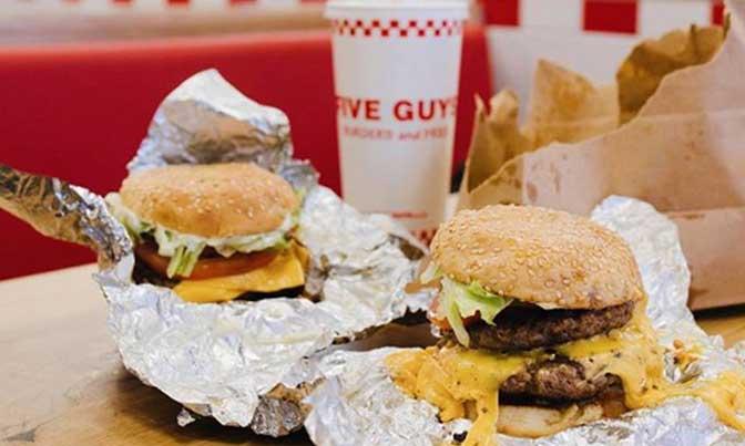 hamburguesas de Five Guys - profesionalhoreca